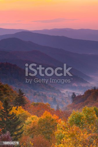 istock Boom view of magnificent autumn mountain sunrise 168504278