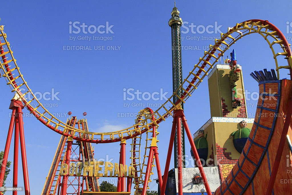 Boomerang - A Roller coaster in Vienna royalty-free stock photo