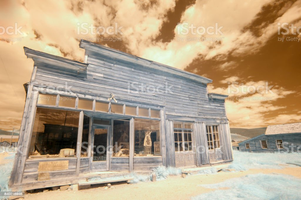 Boone Store and Warehouse in Bodie, California stock photo