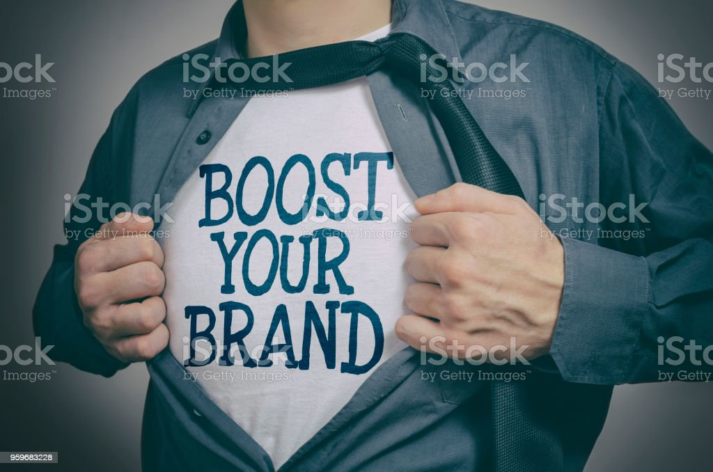 Boost Your Brand stock photo
