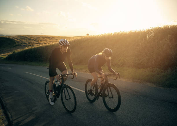 boosting our fitness - cycling stock photos and pictures