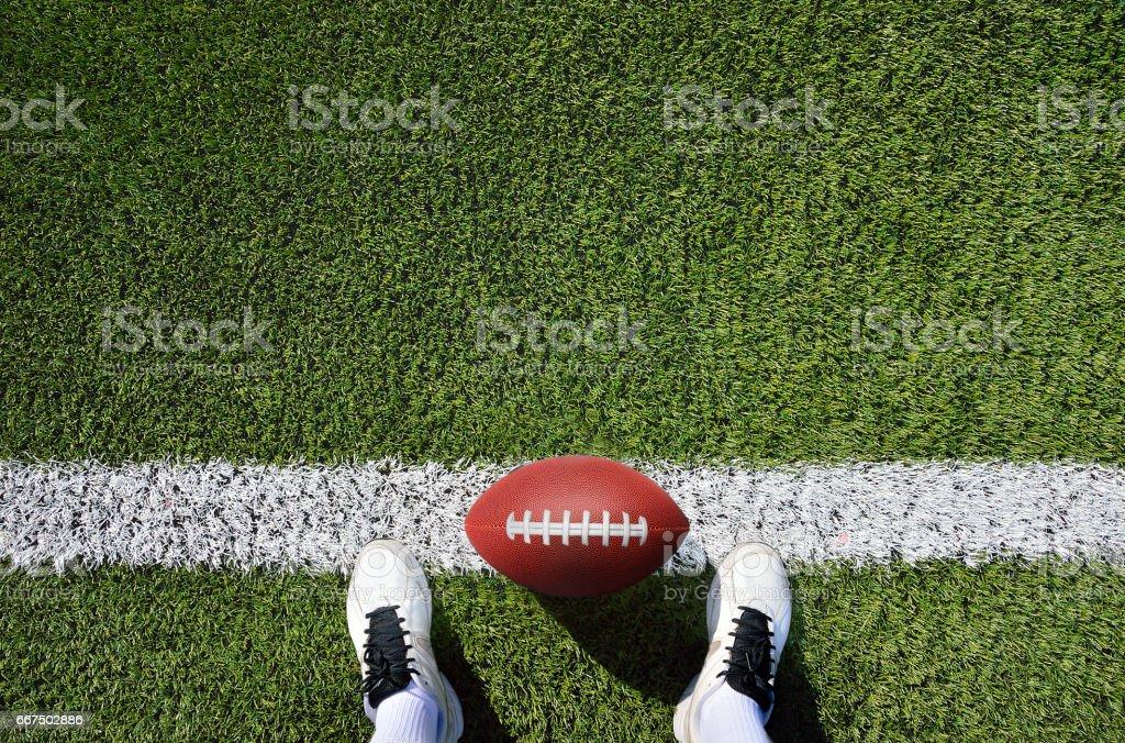 démarrage et ballon de football américain - Photo