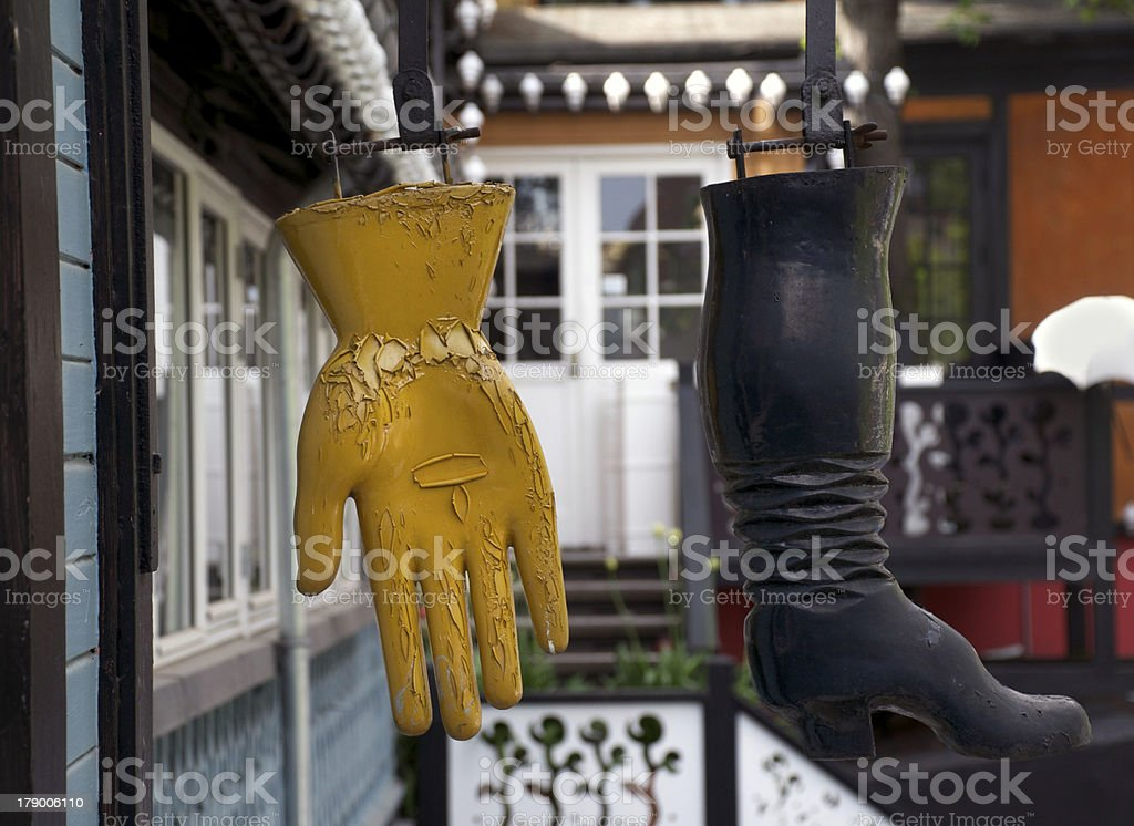 boot and glove stock photo
