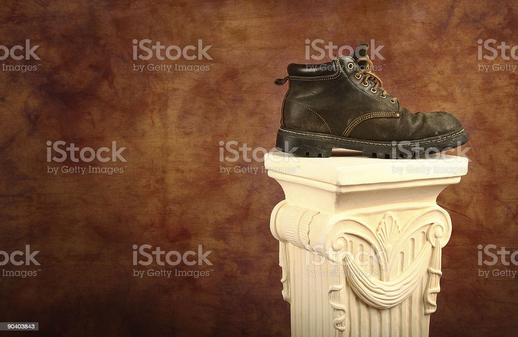 Boot On A Pedestal royalty-free stock photo