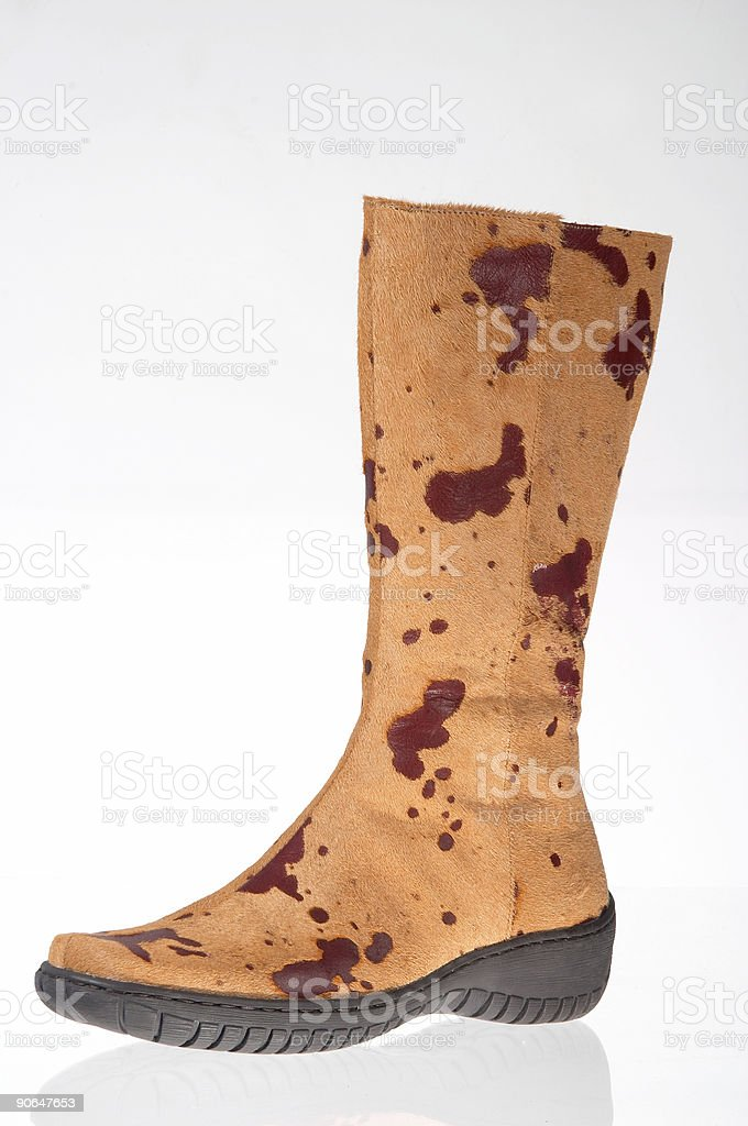 Boot on white background stock photo