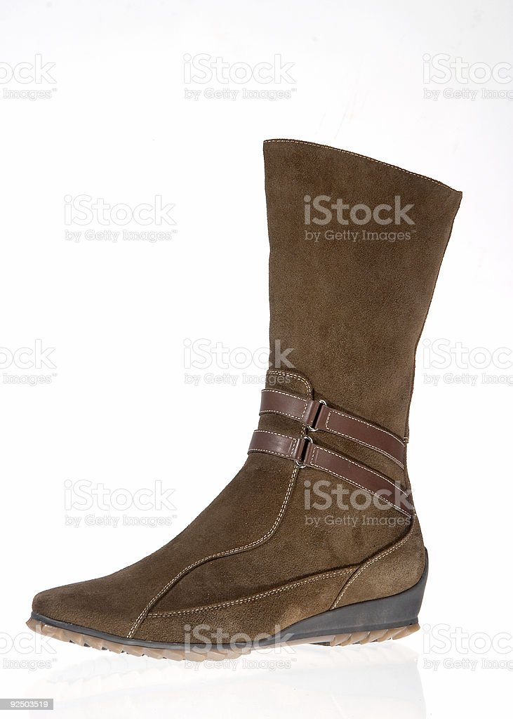 Boot on white background royalty-free stock photo