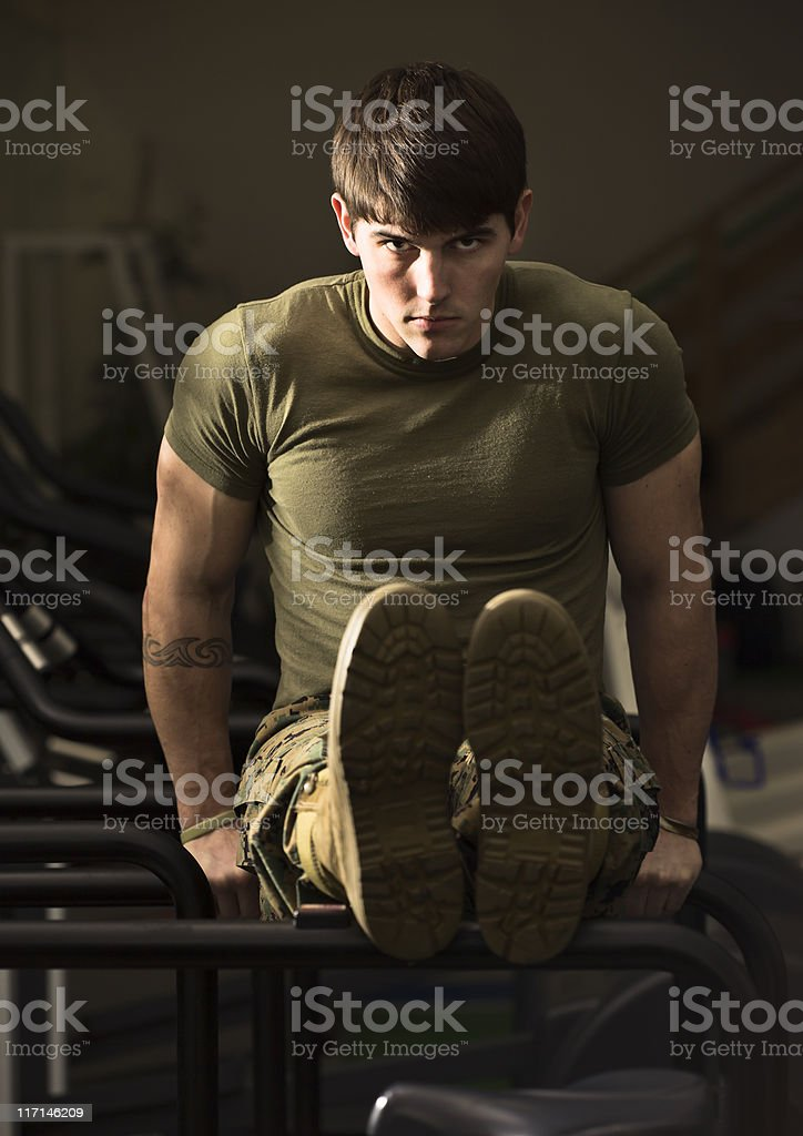 Bootcamp Fitness Trainer royalty-free stock photo