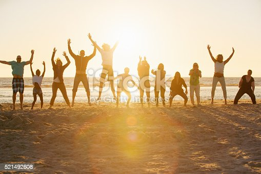 istock Bootcamp people performing sports at the beach of St.Peter-Ording,Germany 521492608