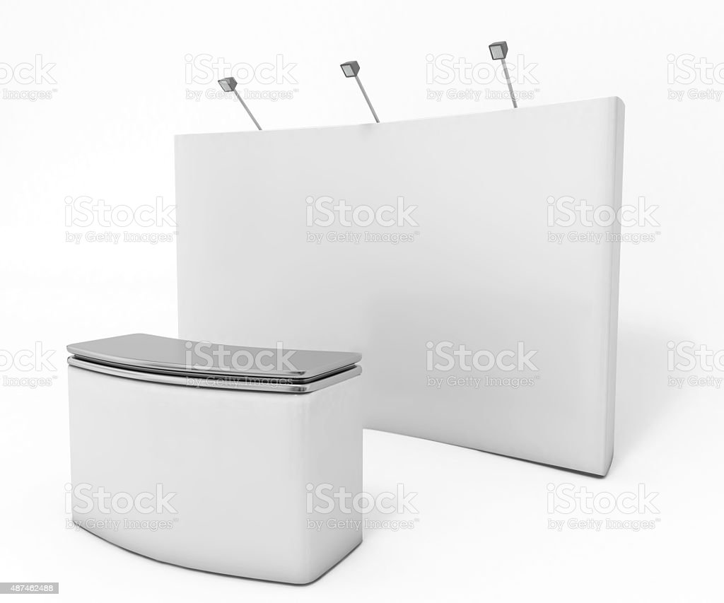 booth in a trade show stock photo