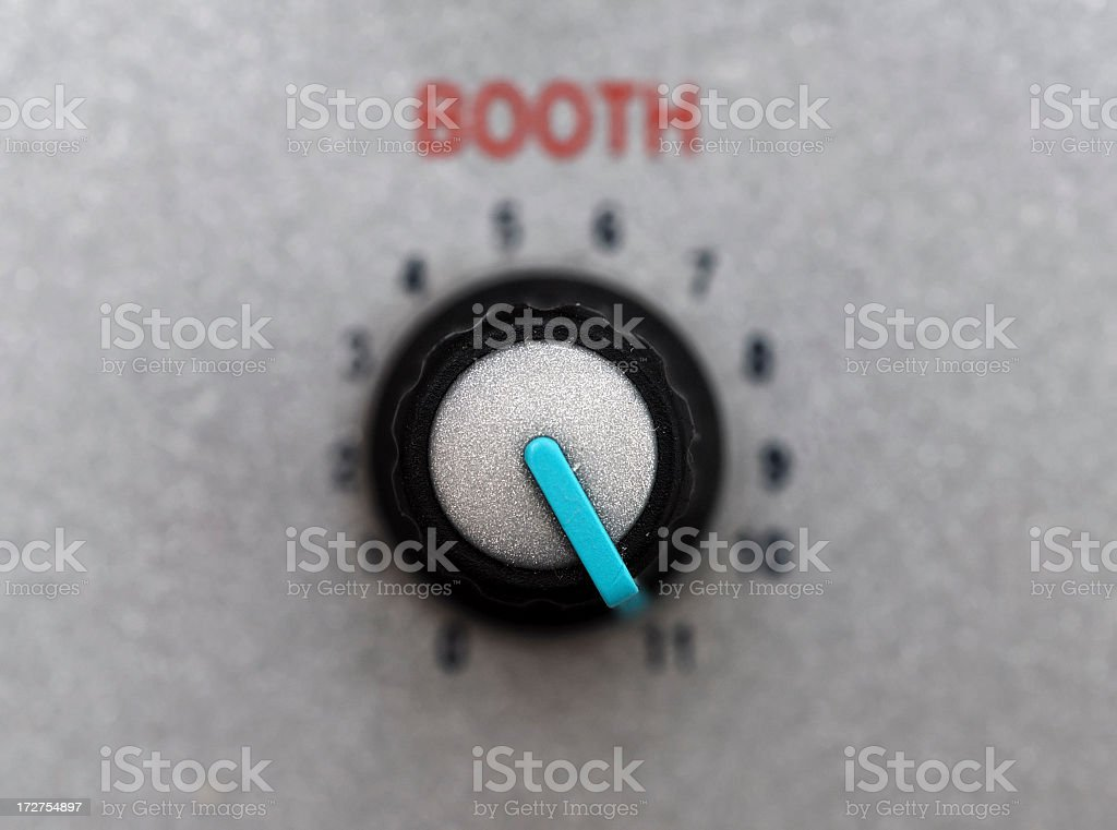 Booth knob stock photo