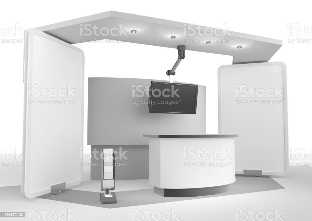 booth on white background stock photo