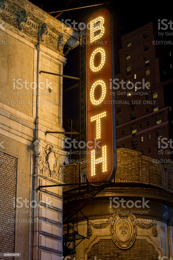 Booth Theater stock photo