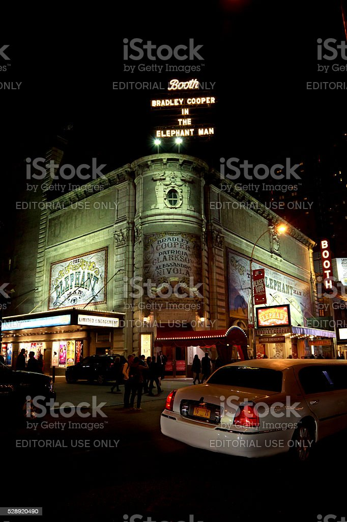 Booth Theatre stock photo