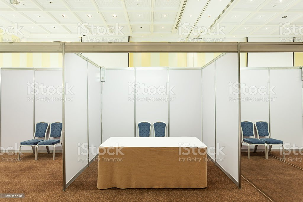 Booth with lighting stock photo