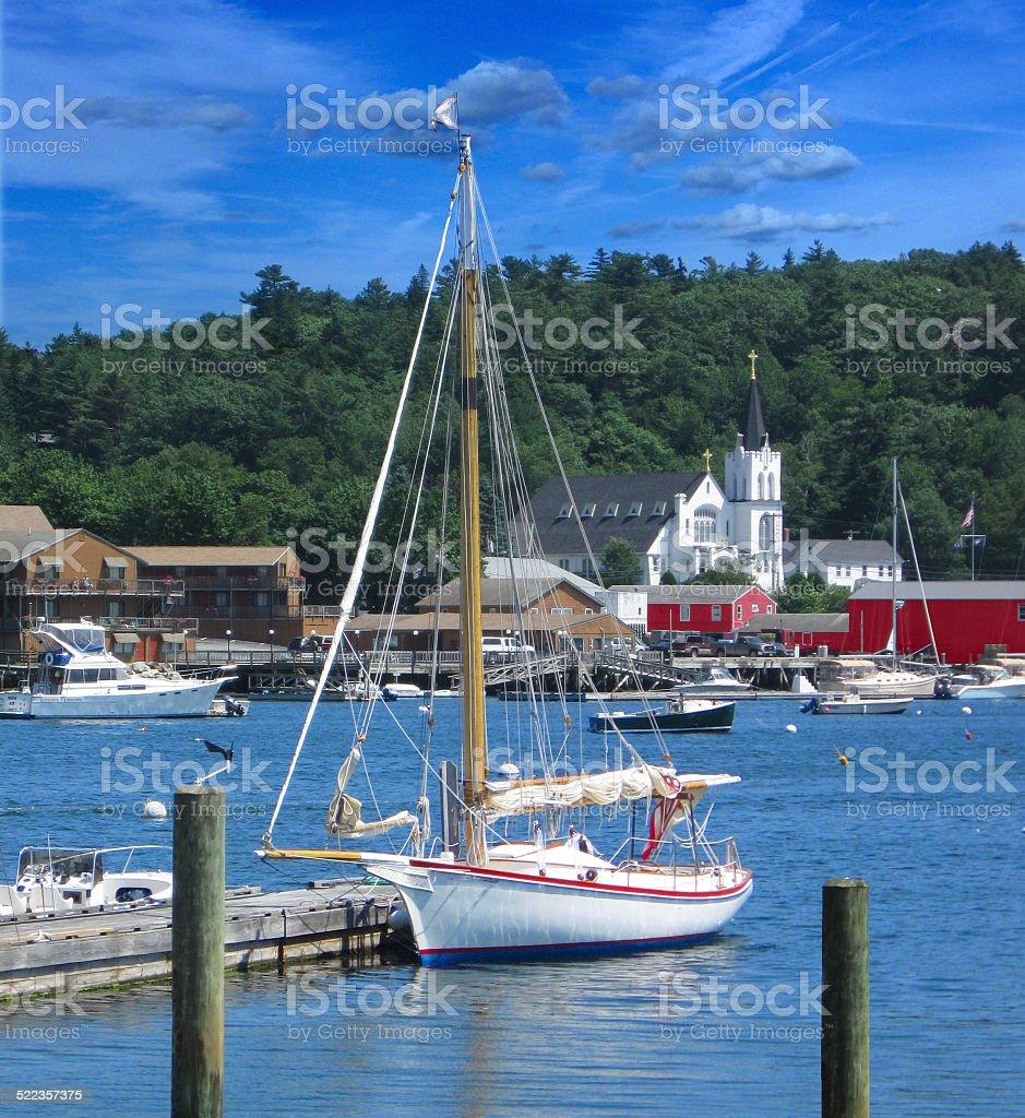 Boothbay Harbor, Maine stock photo