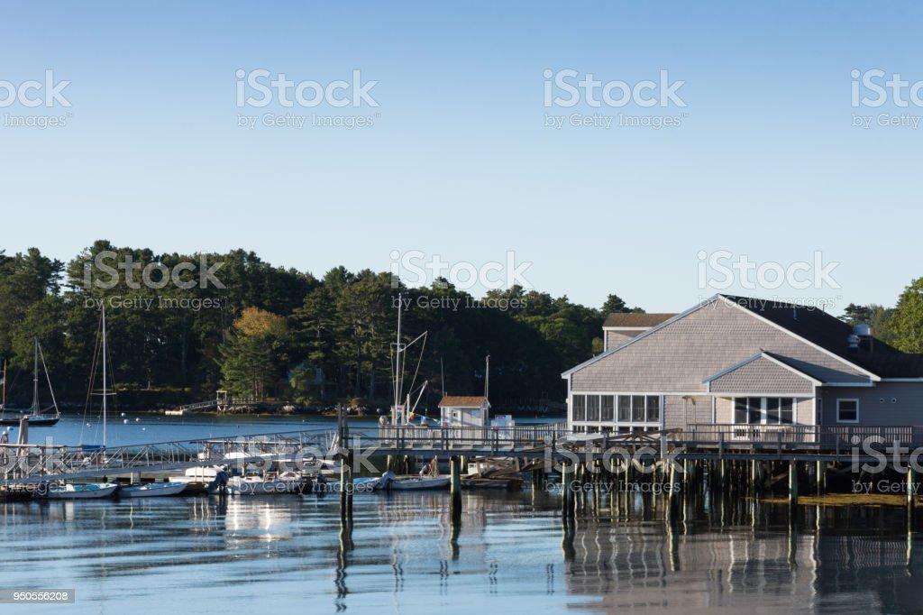 Boothbay Harbor Marina stock photo