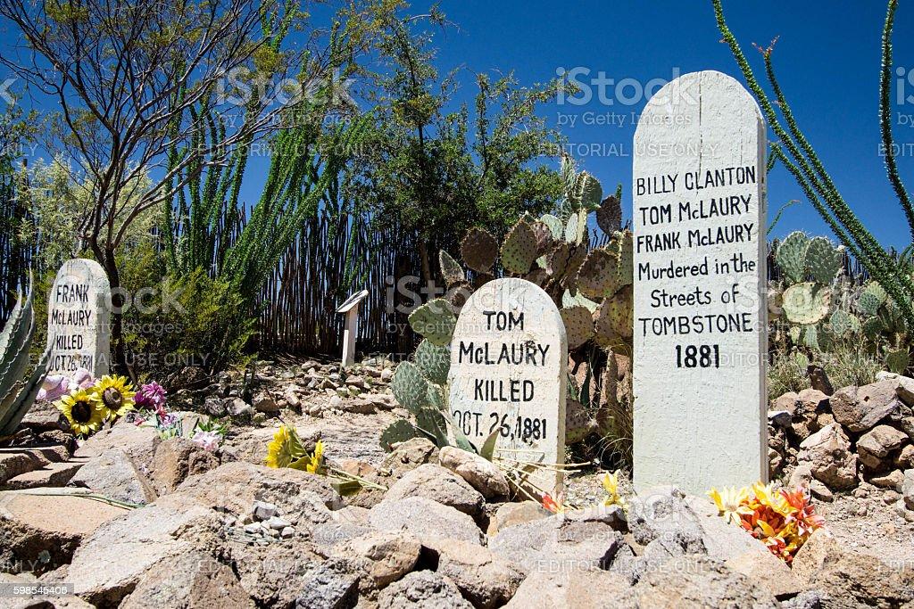 Boothill Graveyard in Tombstone, Arizona photo libre de droits