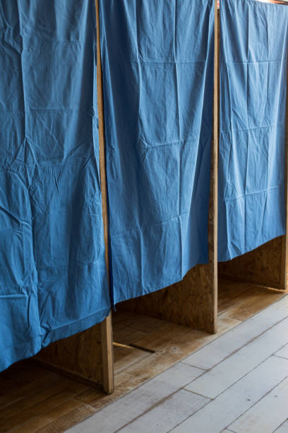Booths at a polling station
