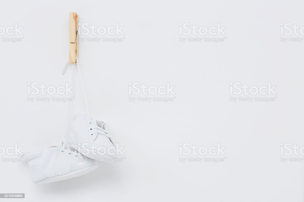 Booties against white background stock photo