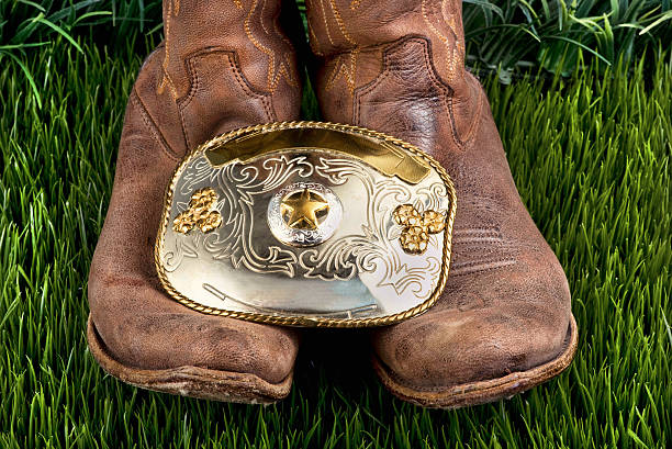 Boots and Belt. stock photo