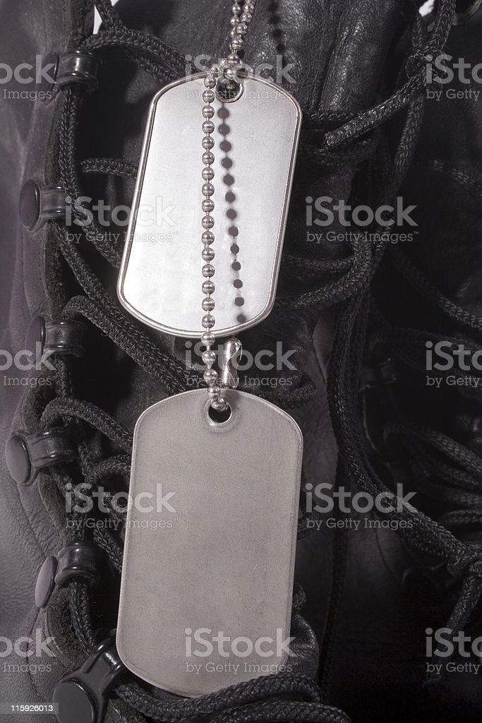 Boots and Tags royalty-free stock photo
