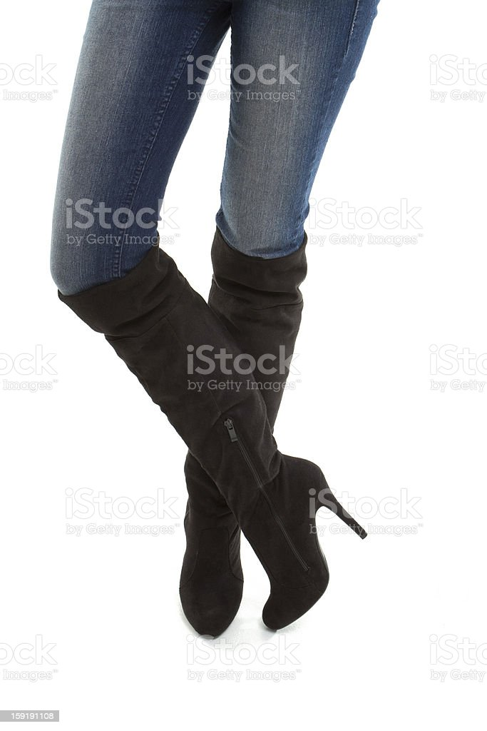 Boots crossed royalty-free stock photo