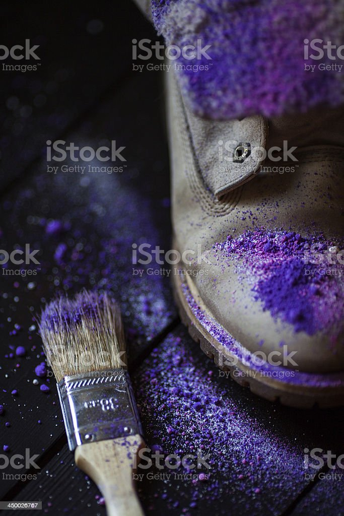 Boots in art stock photo