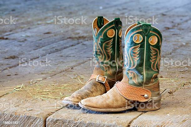 Boots In The Barn Stock Photo - Download Image Now