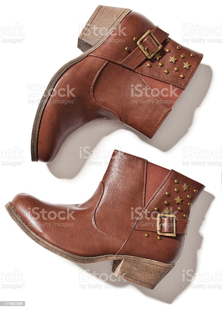 boots isolated stock photo