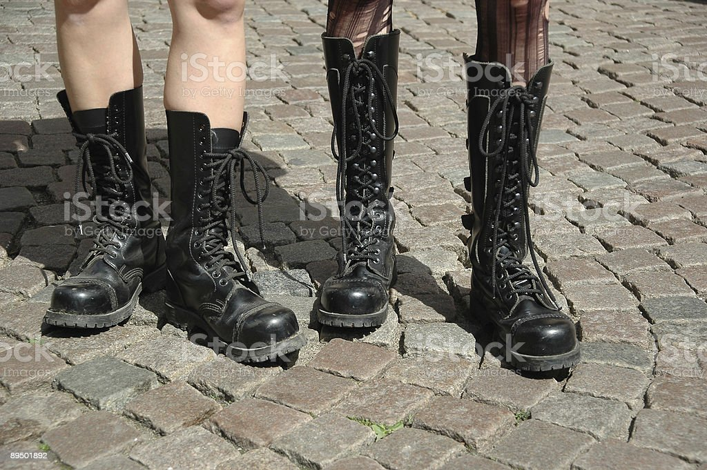 Boots lineup royalty-free stock photo