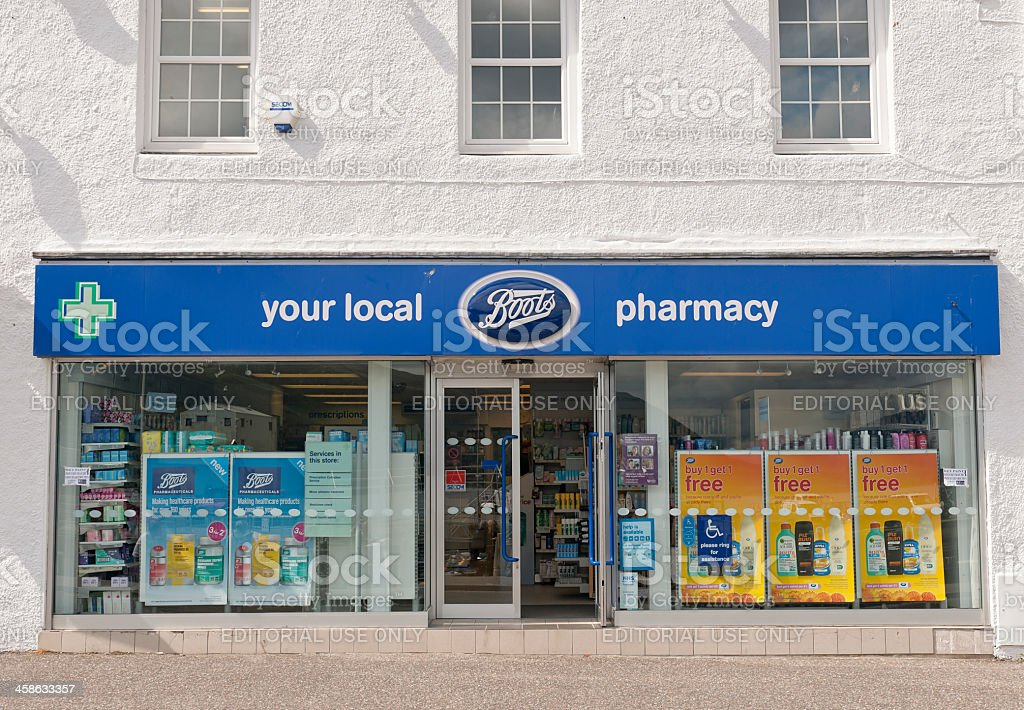 Boots Local Pharmacy Facade stock photo