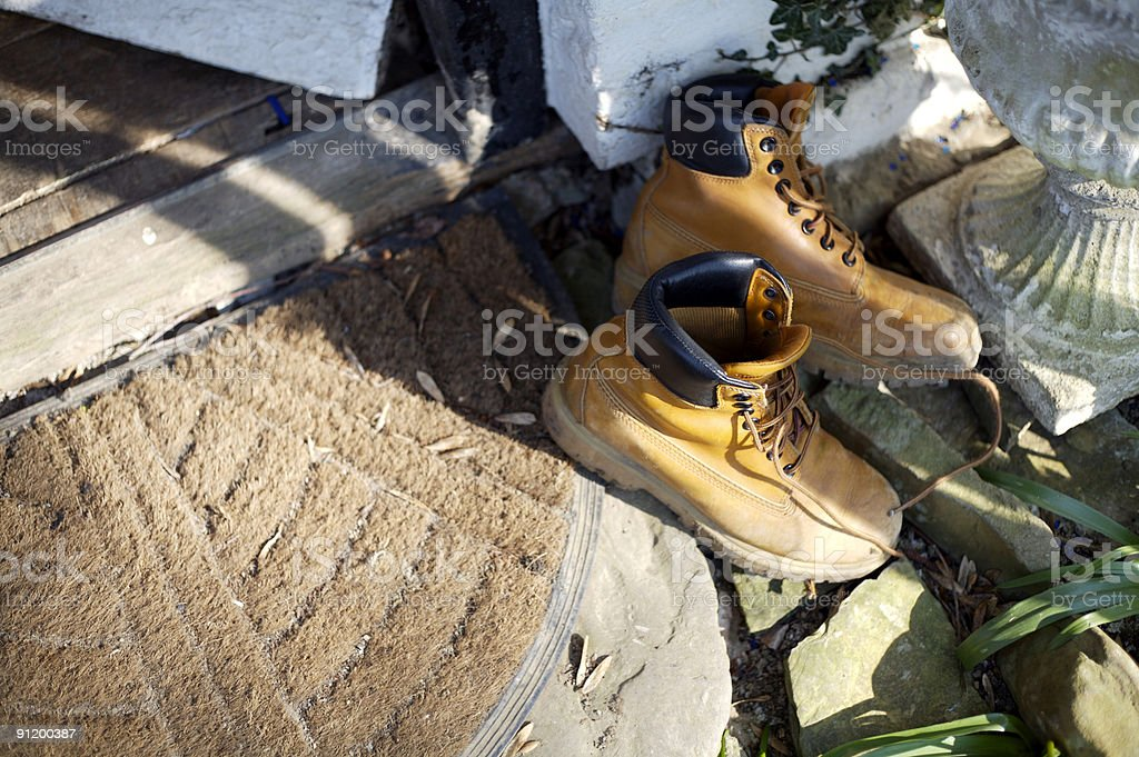 Boots off stock photo