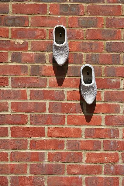 Boots on a Wall stock photo