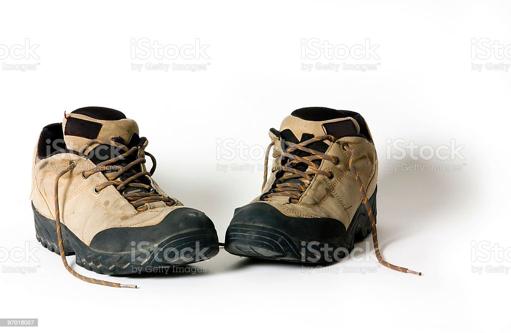 Boots on white background royalty-free stock photo
