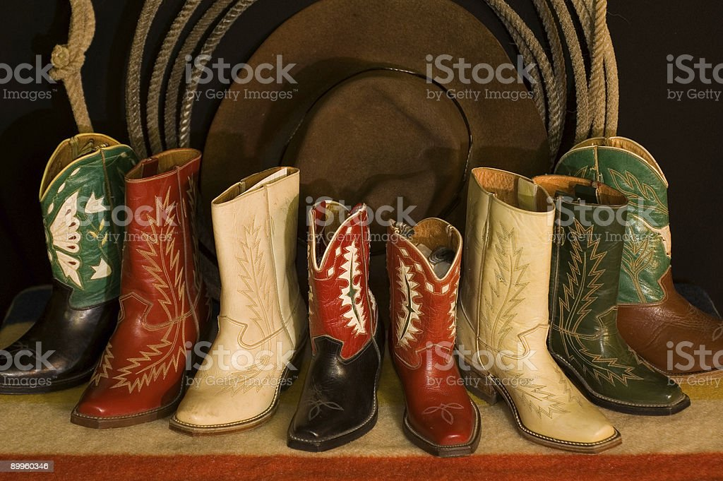 boots, rope, and hat royalty-free stock photo