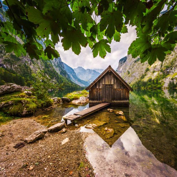 Bootshaus bin Obersee Beim Königssee Im Berchtesgadener Land – Foto