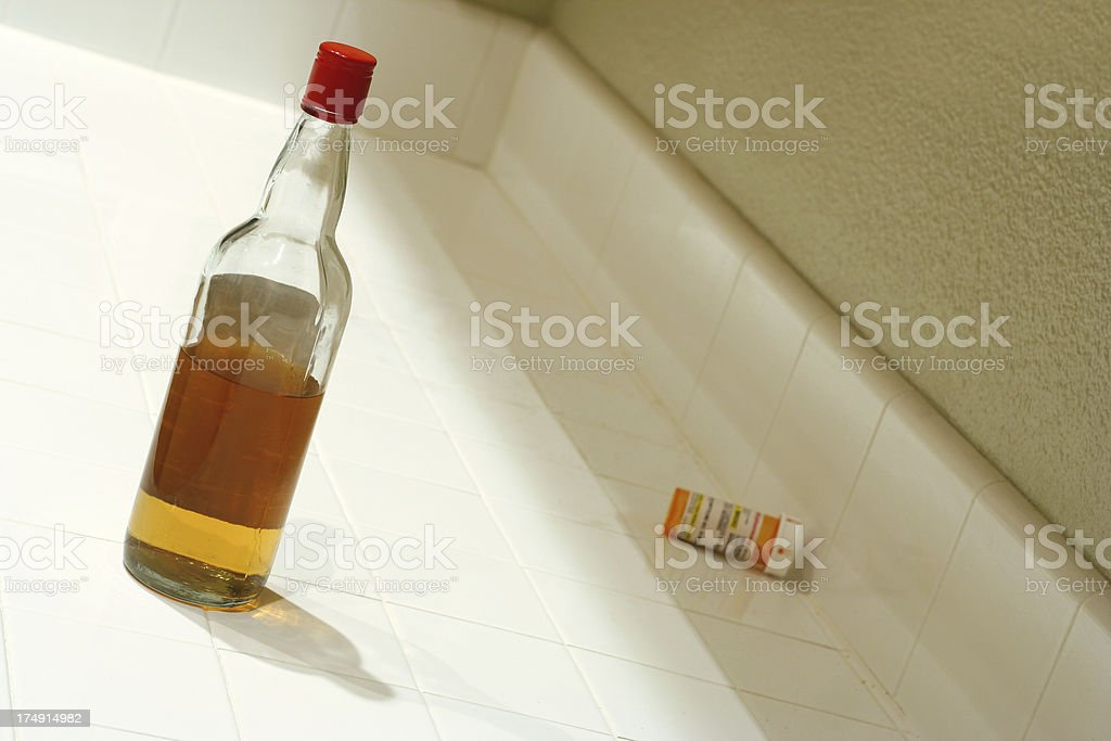 Booze and Pills royalty-free stock photo