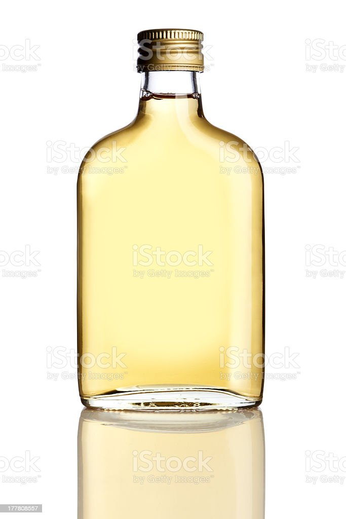 Booze flask isolated stock photo