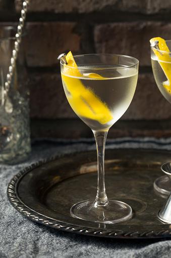 Boozy Lemon Dry Gin Martini