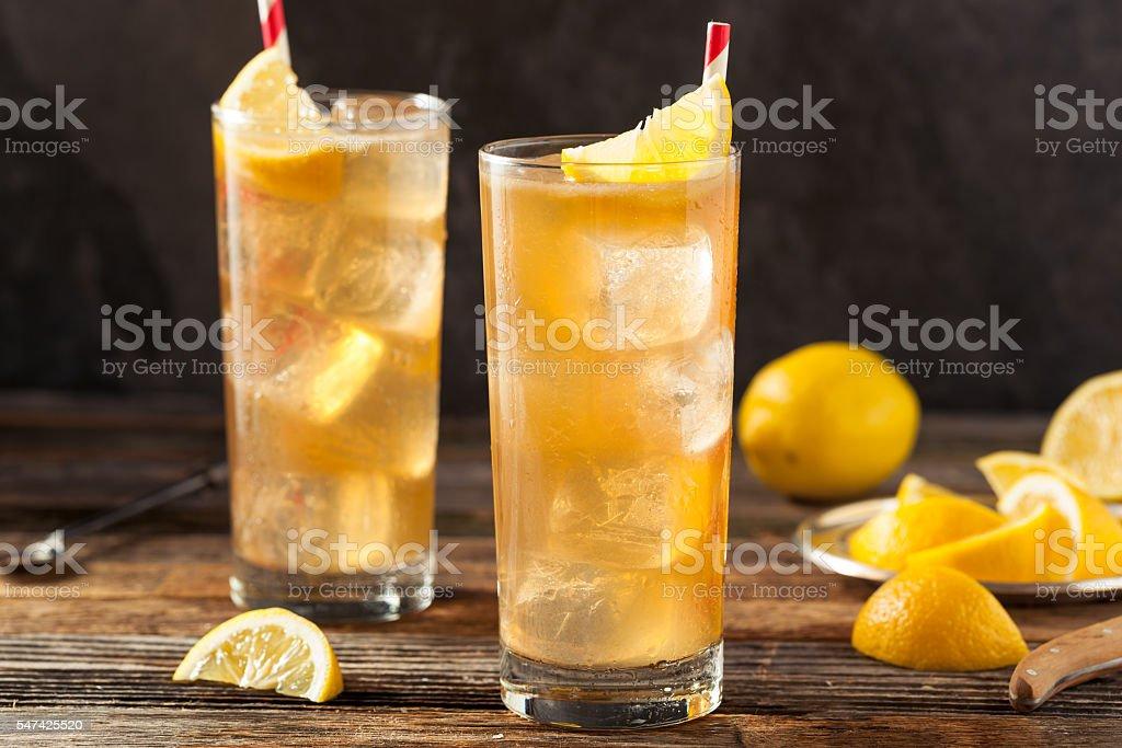 Boozy Long Island Iced Tea stock photo