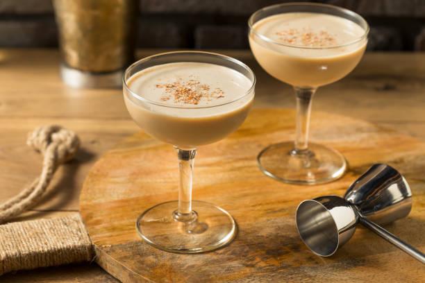 Boozy Refreshing Brandy Alexander Cocktail stock photo