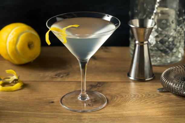 boozy Refreshing Gin Martini stock photo