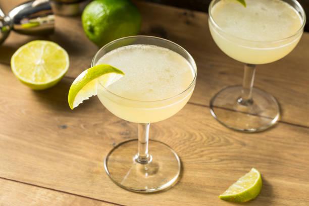 Boozy Rum and LIme Daiquiri stock photo