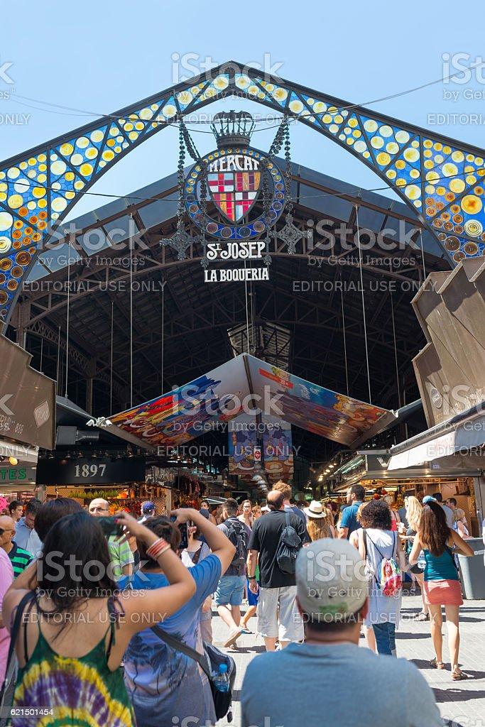 Boqueria market - Barcelona  - Spain photo libre de droits