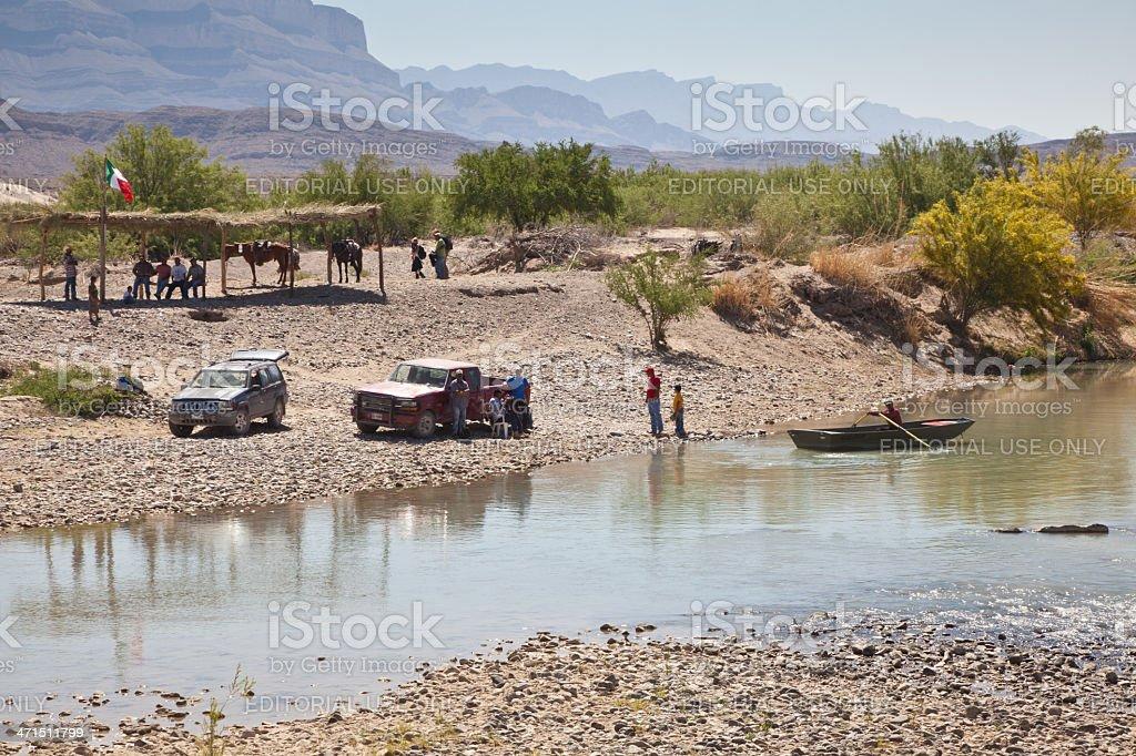 Boquillas del Carmen Mexico Crossing stock photo