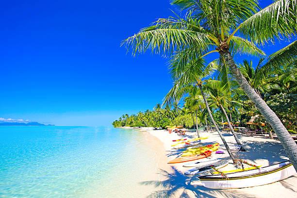 Bora Bora Beach Beautiful Matira Beach in Bora Bora Tahiti. south pacific ocean stock pictures, royalty-free photos & images