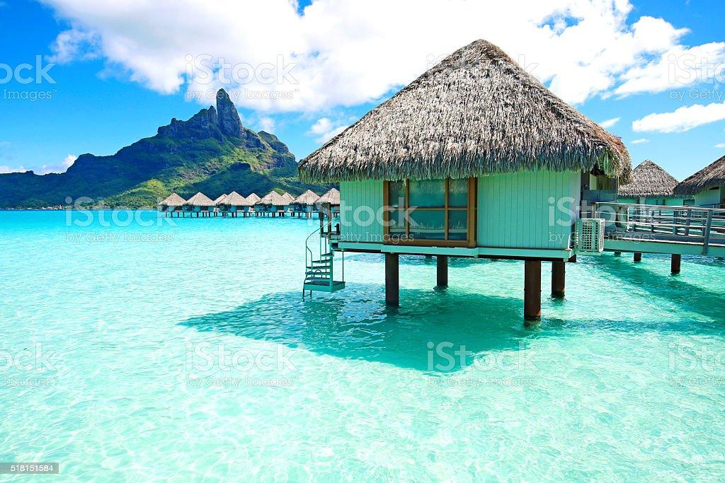Bora Bora-Bungalow - foto de stock