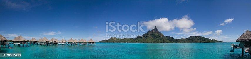 Panorama in Bora Bora, French Polynesia