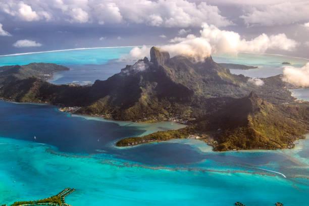 Bora Bora desde arriba - foto de stock