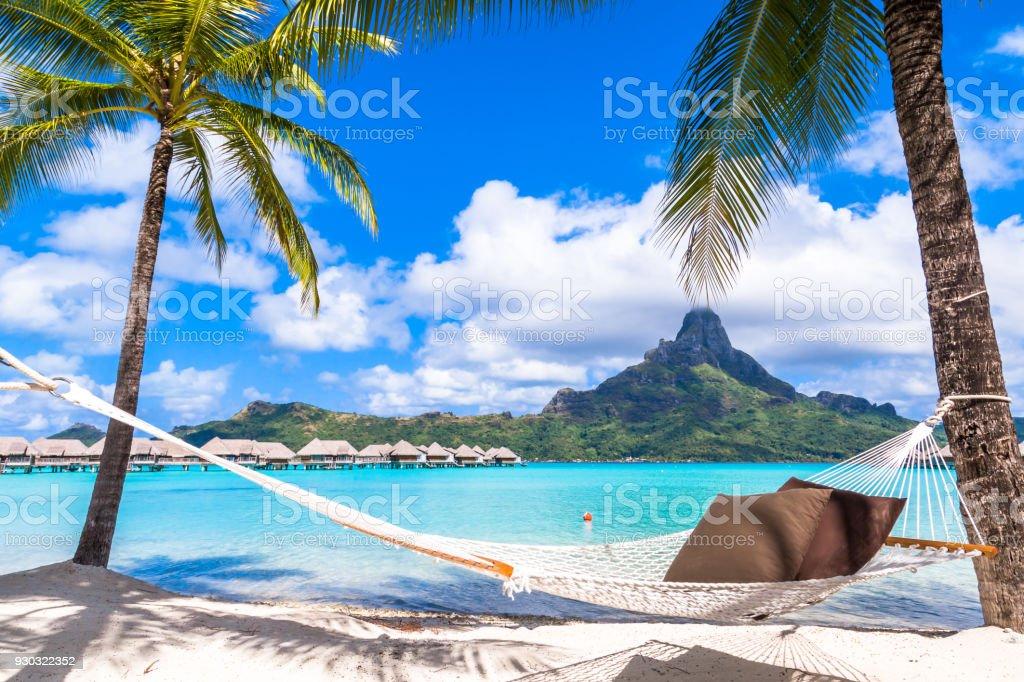 Bora Bora Island, French Polynesia. stock photo